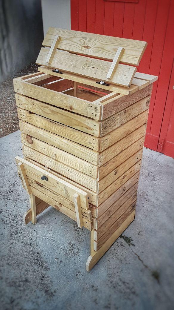 DIY: Fabriquer un composteur en bois de palettes en 2020 ...