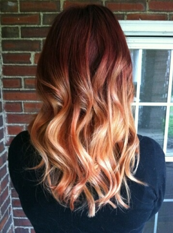 my new red ombre ombre ginger redhead ginger life