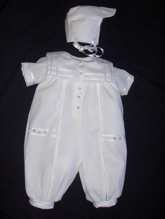 Baby Boy Christening Gown/ Baptism Outfit by Sewingbyquicatos, $64.99