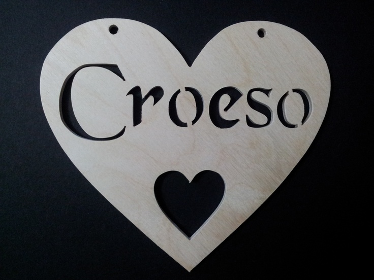 Croeso Heart available at http://www.rhondda-woodcraft.co.uk/shop/hearts/croeso-welcome-wooden-heart/