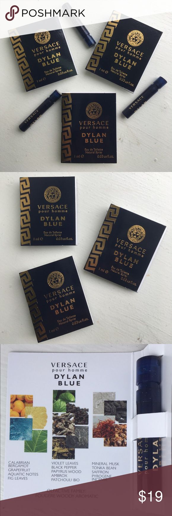 🆕🎆NEW🎆Versace Pour Homme Dylan Blue 3Pc Travel 🆕🎆NEW🎆Versace Pour Homme Dylan Blue 3Pc Travel Set. All Have Atomizers All Have 0.03oz. BRAND NEW! UNTOUCHED! 🚫Trades 🚫Price Firm Versace Other