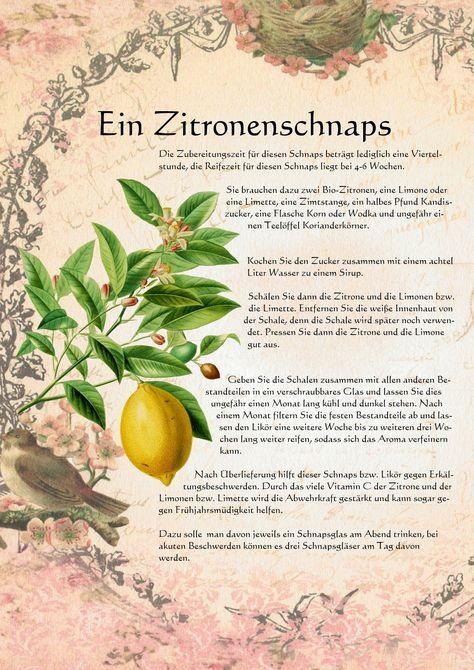 Ein Zitronenschnaps