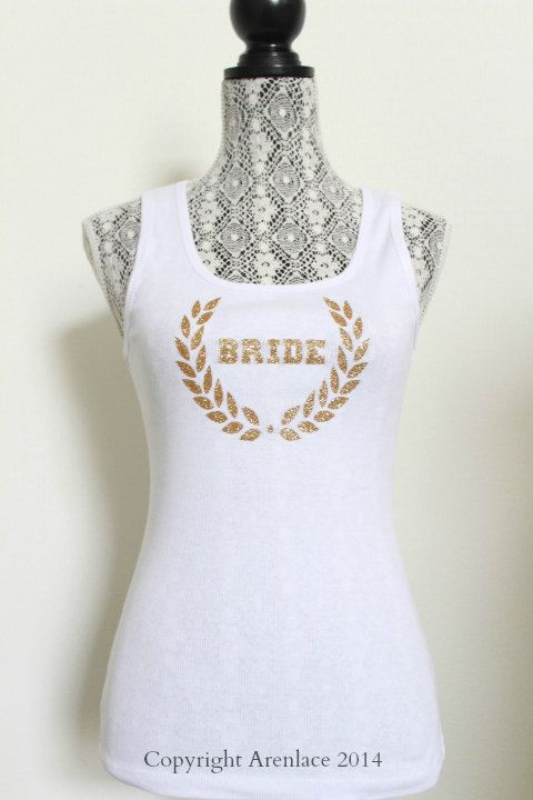 Bride Tank Top - Soon to Be Bride tank top.Bride shirt.Mrs racerback tank top.Just married tank top. Newlywed Tank Shirt. Bride Apparel.I doArenLace, $14.00