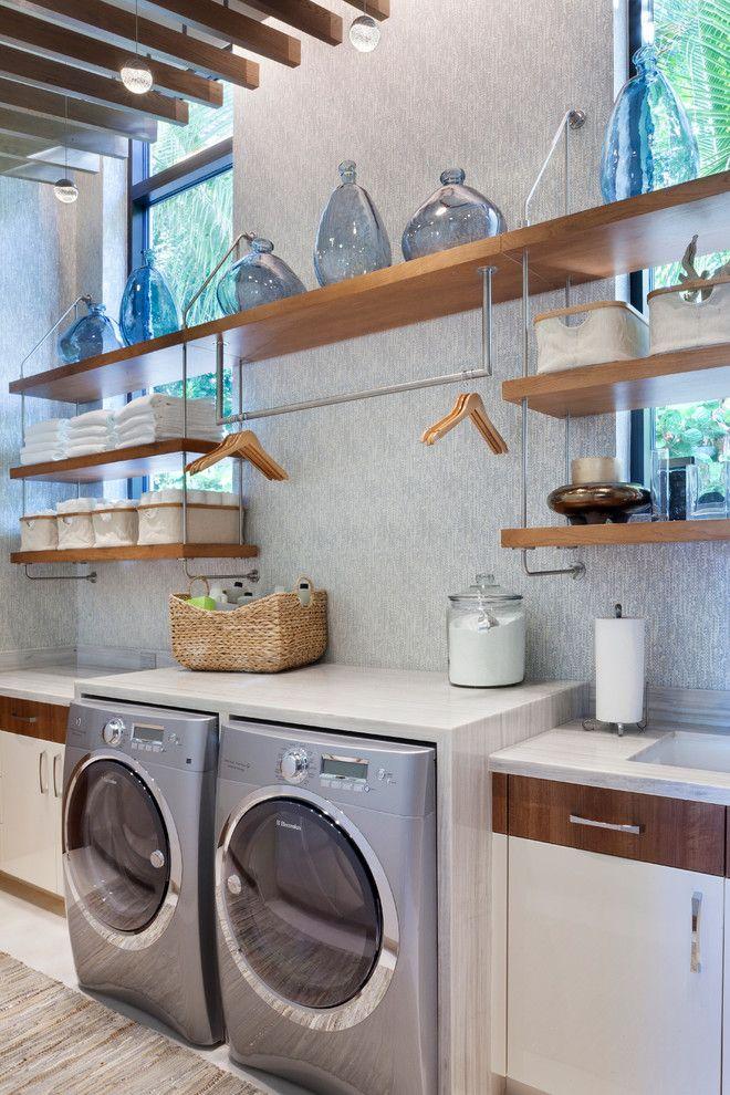 Hanging design ideas laundry room contemporary with clothes hangers clothes hangers laundry storage