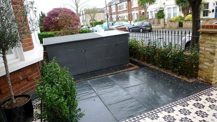 Stained Concrete Front Porch Google Search Modern Victorian Front Garden Garden Wall Front Garden Design