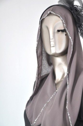 Beaded Buttoned Hoodie- Ash Grey - Hoodies - Online Collection   Online Hijab Store in Singapore  Shawl   Hoodies   Hijabfashion 