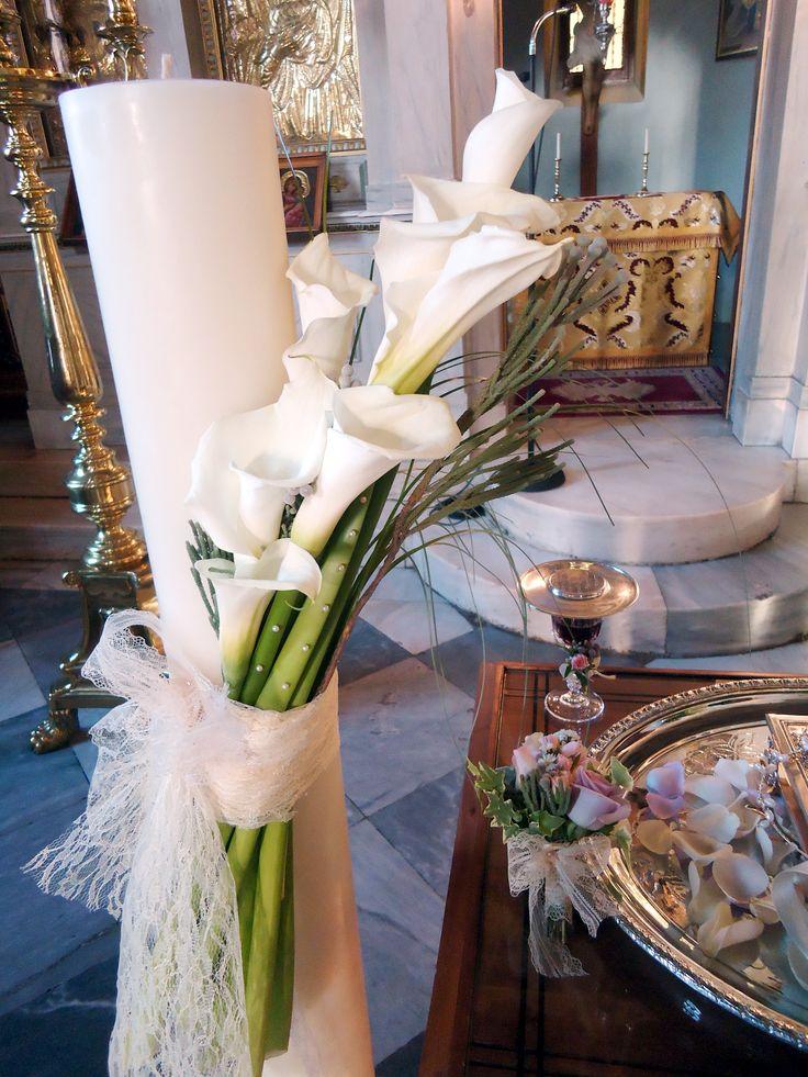 wedding candles - calla flowers