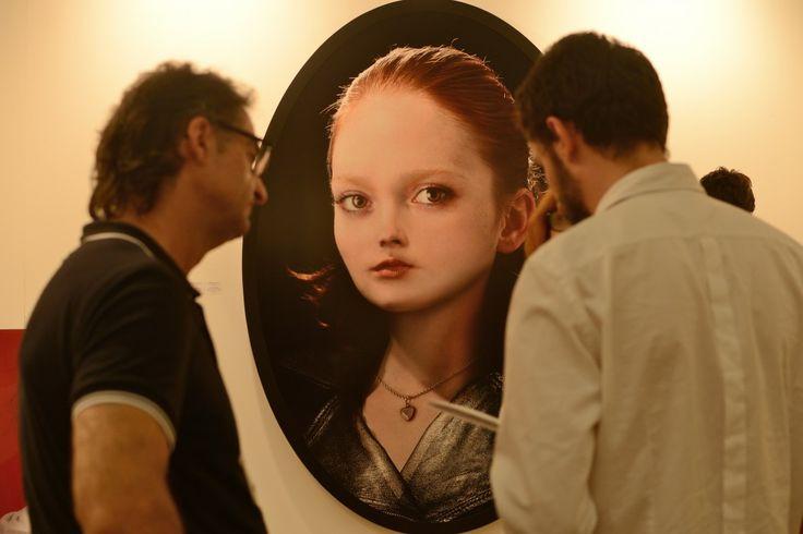Nuestra artista Cecilia Avendaño en lo que fue Swab Barcelona 2013. #Swab2013 #Barcelona #arte #contemporary