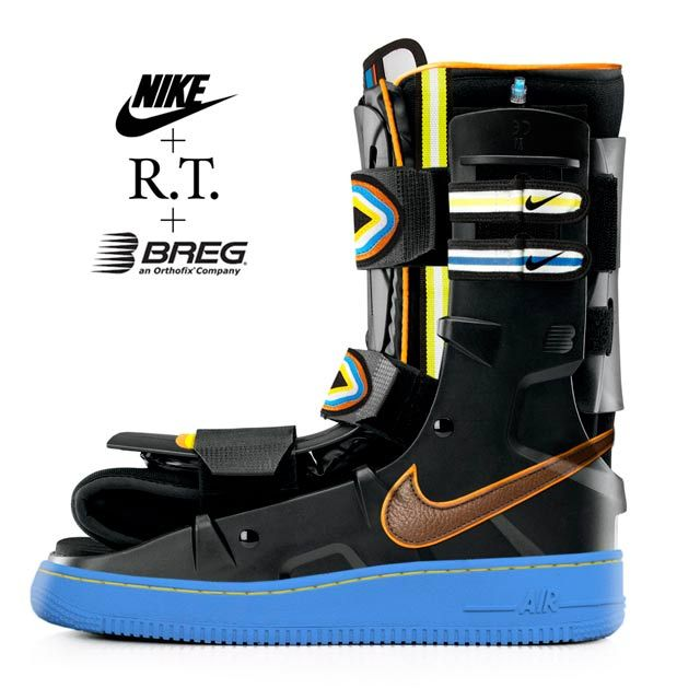 My April Fools gag of 2015 – the 'Nike Air Cast 1', a high-fashion moon boot.