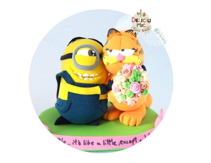 Figurine personalizate: dragostea dintre un Minion și Garfield în varianta feminină!