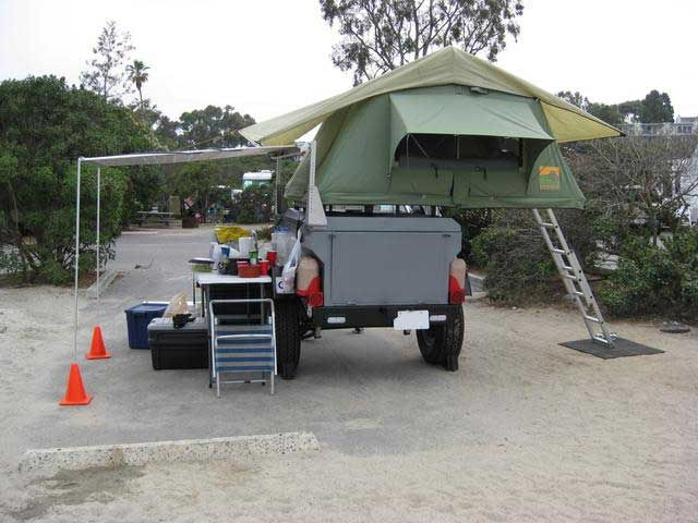 Sleeping tents are a popular add-on to some bug out trailers.