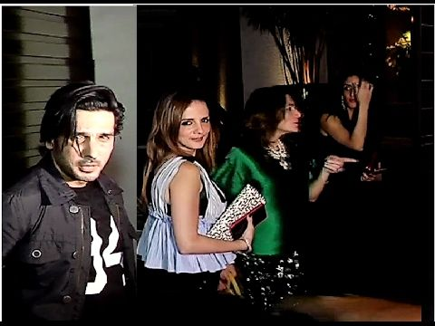SPOTTED ! Sussanne Khan & Zayed Khan at Father Sanjay Khan's Party 2017.  Click here to see the video > https://youtu.be/Py3yDOxBKV4  #sussannekhan #zayedkhan #sanjaykhan #bollywood #bollywoodnews #bollywoodnewsvilla