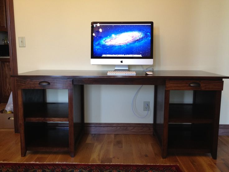 Double Drawer Channing Computer Desk Do It Yourself Home