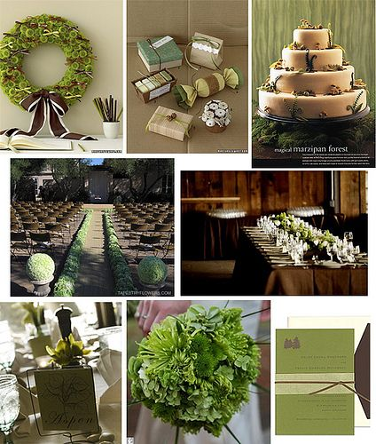 113 best Green & Brown Weddings images on Pinterest | Green brown ...