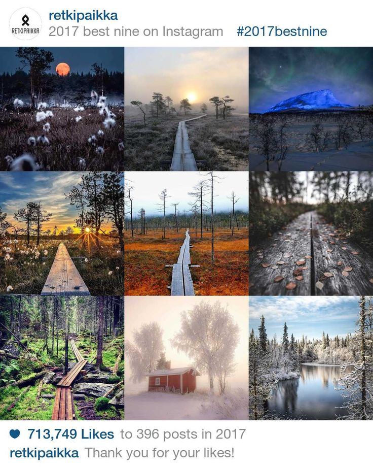 2017bestnine - retkipaikka's best nine on Instagram in 2017