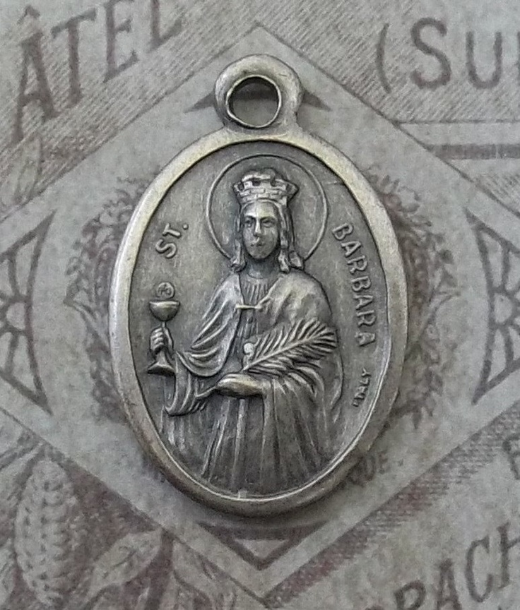 Saint Barbara Patron Saint Of Firefighters & Architects And Saint Catherine Of Siena Doctor Of The Church Protector Of Italy, Italian Medal