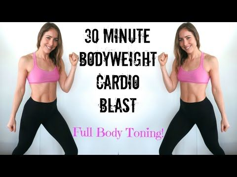 30 Min No Equipment Cardio Blast | Full Body Toning | 400 Calorie Burn - YouTube