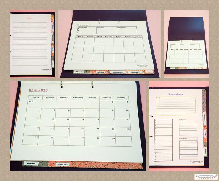 Good Flexibler Familienplaner im DIN A Format zum selber ausdrucken GRATIS Monatsplanung Wochenplanung