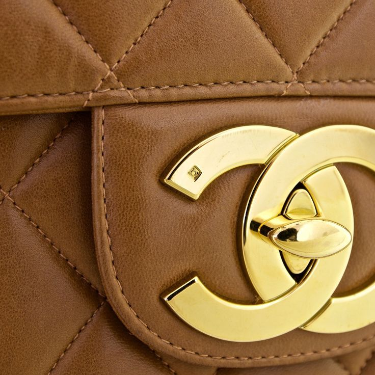Chanel Brown Quilted Lambskin Jumbo Flap Bag