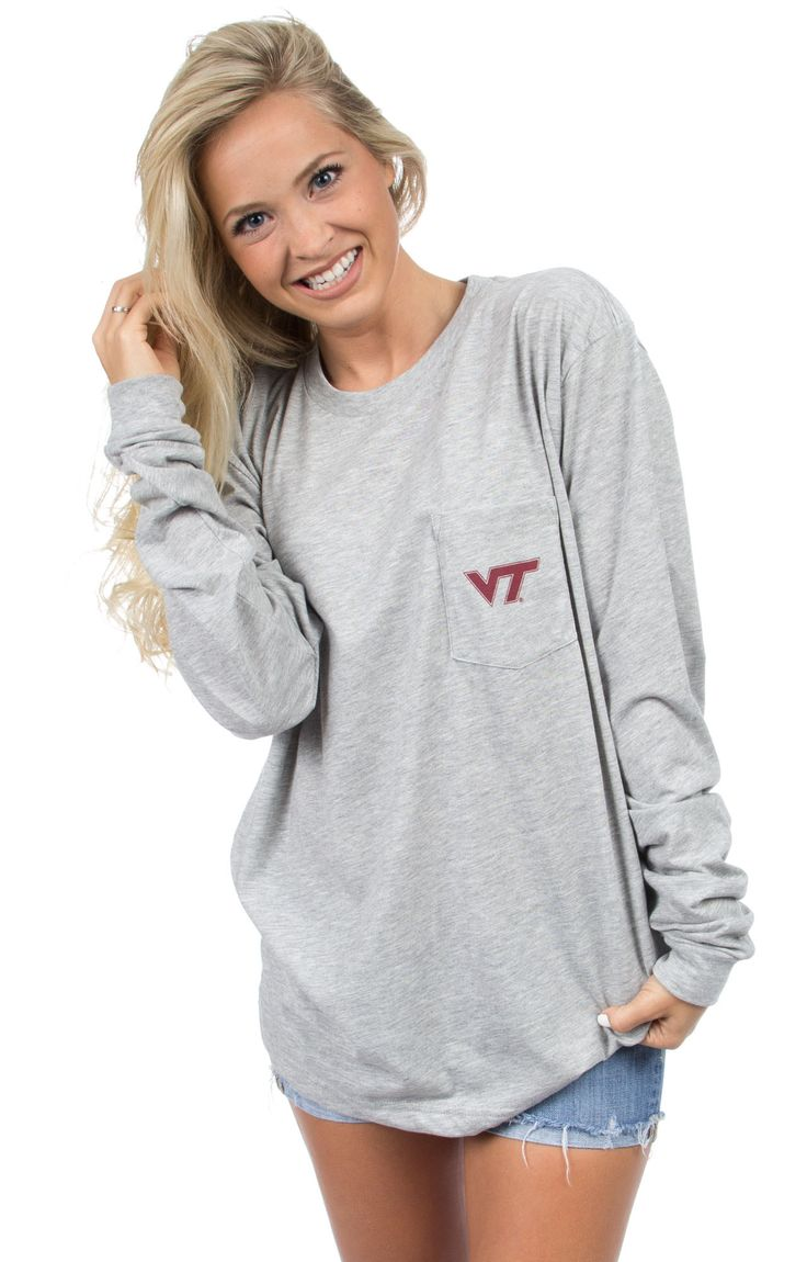 Lane Stadium has never looked so good! We are crazy about our brand new stadium tees! It's the perfect tee to cheer on the HOKIES in this Fall! Models are wearing MEDIUMS! Features - 100% Combed Cotto