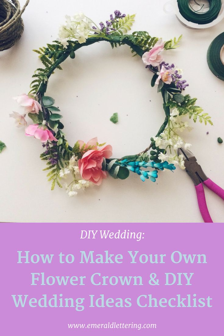 DIY Flower Crown | Wedding DIY Ideas Printable | Free Printable | Bohemian Wedding  Ideas |