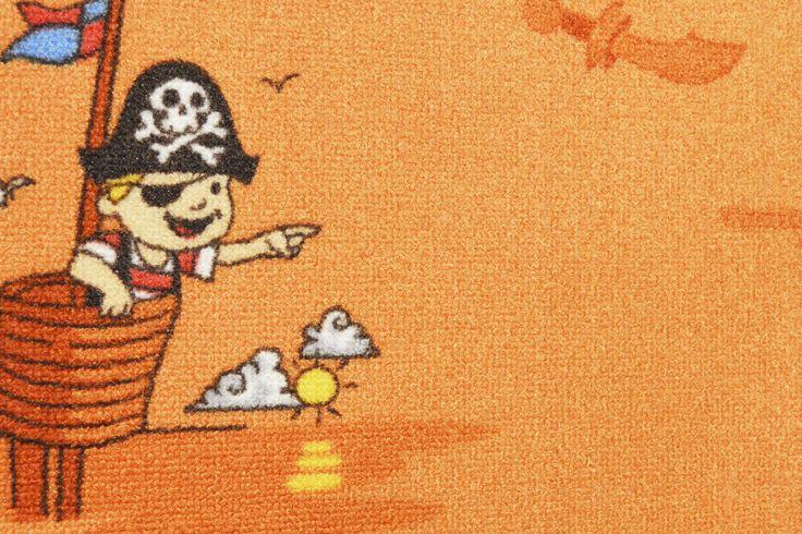 Παιδικές μοκέτες Πειρατές. ΠΡΟΣΦΟΡΑ. Διαθέσιμη σε πορτοκαλί και γαλάζιο.