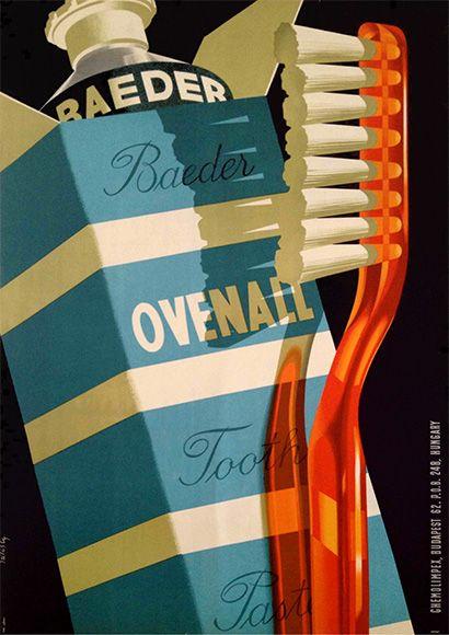 Híres magyar márkák: Ovenall - Ragyogó fogsor, üde száj, reggel este Ovenall! | famous Hungarian Brands: Ovenall toothpaste (Szilas Győző, 1958)