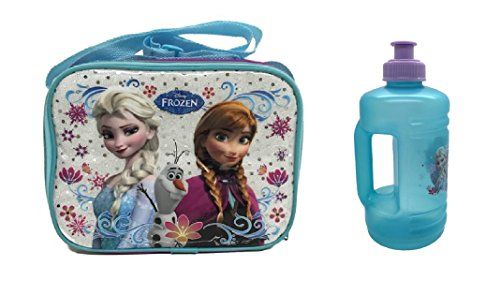 Disney Frozen Blue and Purple Lunch Bag with a Water Jug @ niftywarehouse.com #NiftyWarehouse #Geek #Fun #Entertainment #Products