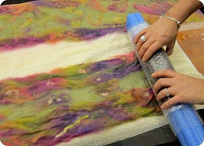 Nuno Felting  ....WOW a new way...this seems pretty simple!