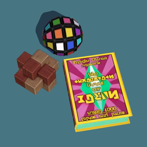 """""""Three New Skilling Objects for TS2  (My contribution to this month's GoS theme, which focuses on uncommon categories of CC. So I turned my eye to some of the less loved skills…)  The rubik's ball and puzzle knot draw their animations from the science..."""