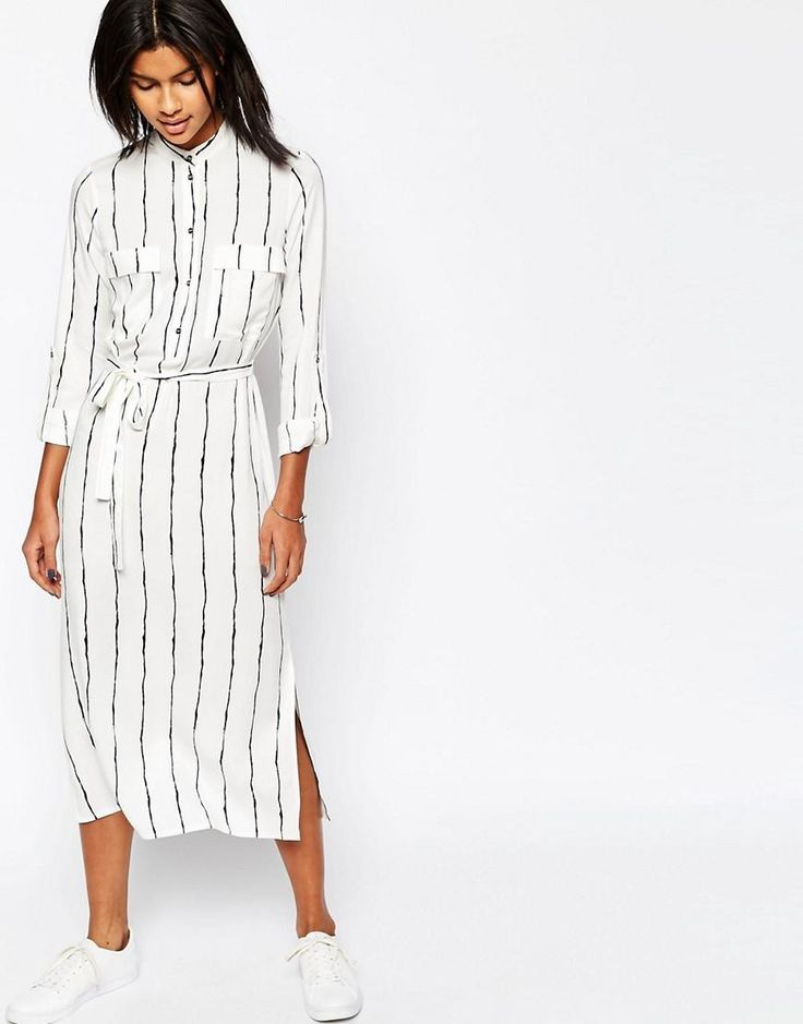 ASOS   Платье-рубашка макси с накладными карманами ASOS на ASOS