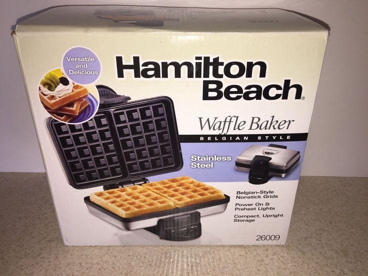Hamilton Beach Belgian Style Waffle Maker     eBay