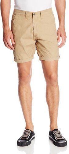 $79, Tan Shorts: Big Star Slim Industry Chino Short. Sold by Amazon.com. Click for more info: https://lookastic.com/men/shop_items/54575/redirect
