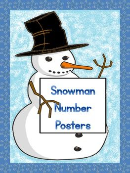 Here is a large full page set of Snowman number posters 0-100 that can be used to help with number recognition or for classroom display.