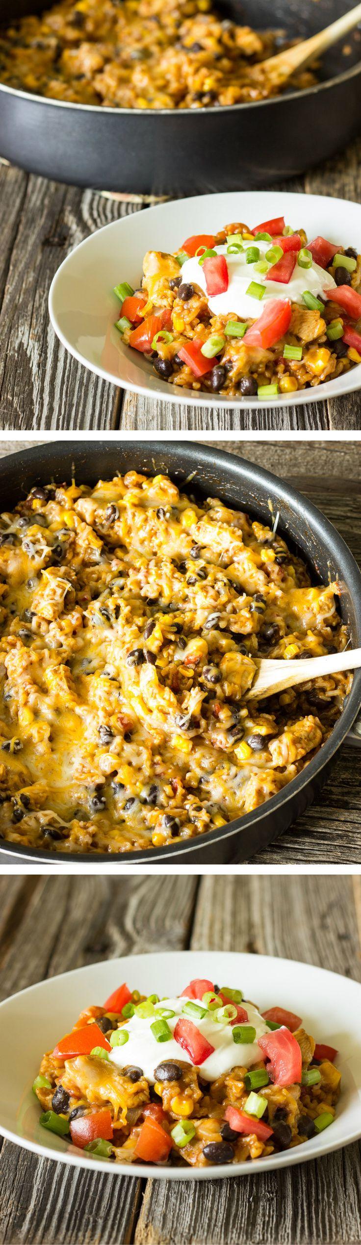 One Pot Wonder Chicken Enchilada Bowls.