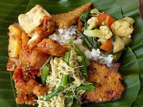 Nasi Campur (Mixed Rice)