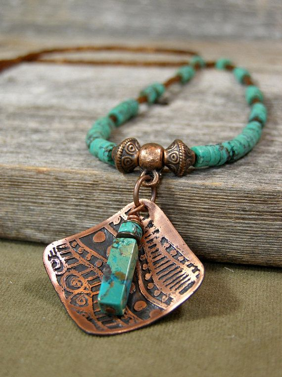 Turquoise Necklace  Beaded Necklace