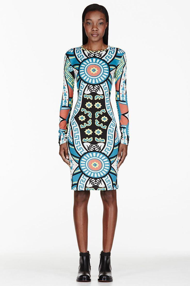 Ktz Blue & White Bodycon Dress for women | SSENSE