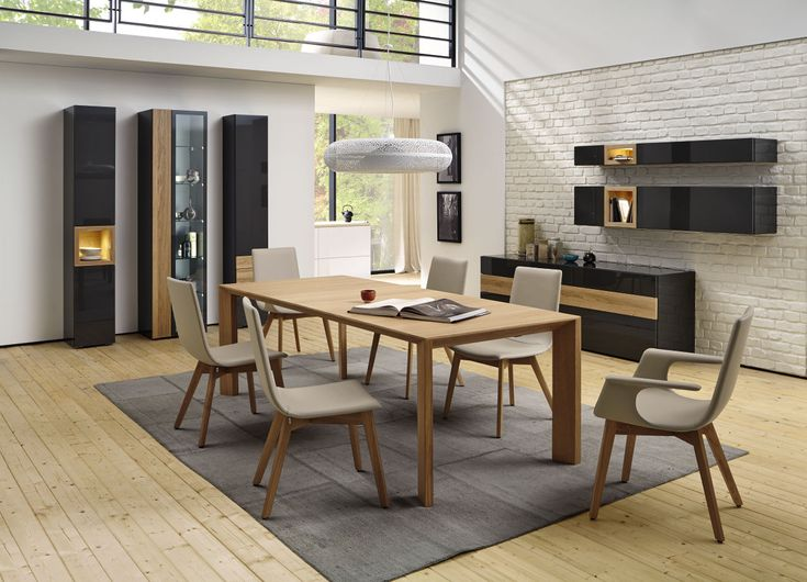 #dining #wood #table #chairs #madebyhuelsta #hulsta #interiordesign #NEO