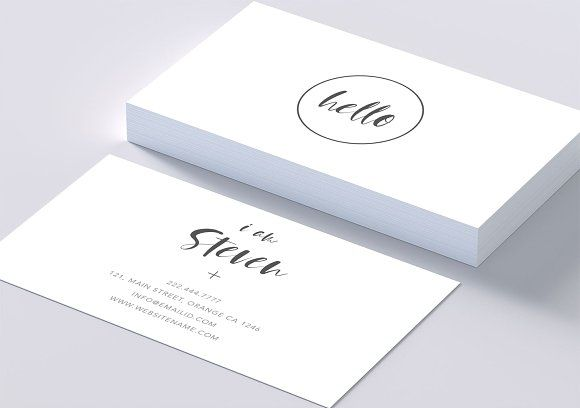 Minimal Beautiful Smart Card Business Card Design Business Cards Creative Templates Business Card Template Design