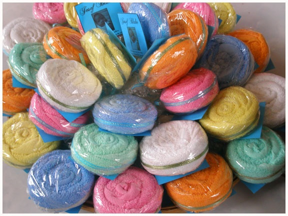 lollipop towels for Christening giveaways
