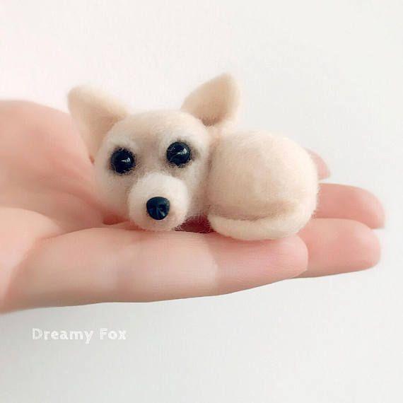 Nadel Gefilzt Chihuahua Hergestellt Aus Reiner Wolle Hund Ist 2 Zoll 5 Cm Verschiedene Farben Sind Moglich Ich Akze Needle Felting Custom Portraits Chihuahua