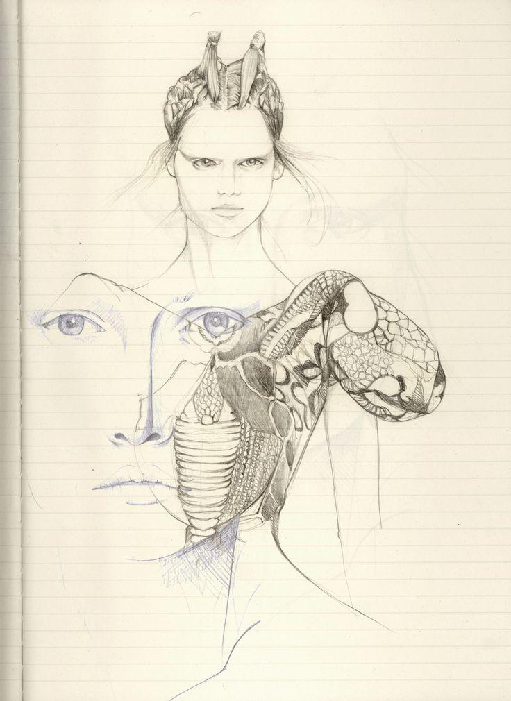 Alexander McQueen SS10 Sketches