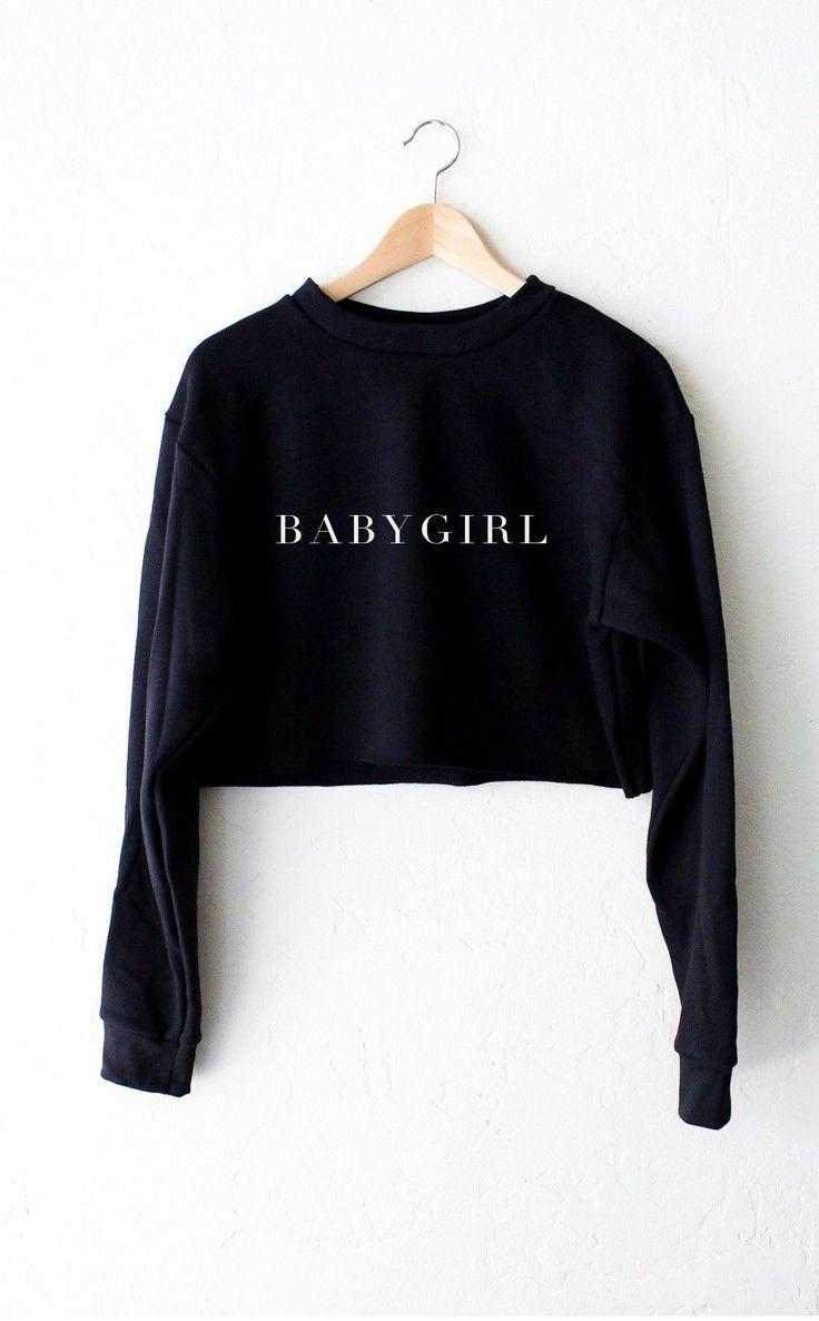 Black Crop Sweater - Sweater Vest