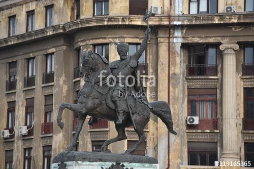 """Download the royalty-free photo """"Statue of Mihai Viteazu, famous romanian ruler…"""