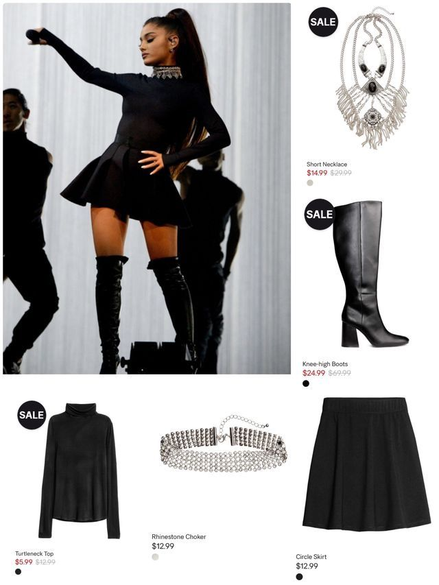 Ariana Grande Dwtour Fav Outfit All Clothes From H Amp M