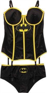 Batman Corset and Briefs Lingerie Set. I Gotta get one!!!