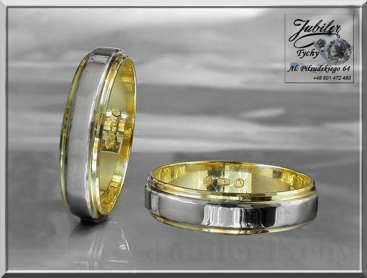 Złote obrączki z wstawką białego złota. Próba 585 waga 8,000 gr. (para) Promocyjna cena 150 zł netto za 1 gr wyrobu (+VAT) #Złote #obrąki #okazja #wstawka #białe #złoto #Au585 #Gold #wed #biżuteria #wedding #ślubna #ślub #obrączka #ring #wesele #jubilertychy #Jubiler #Tychy #Jeweller #Tyski #Złotnik #Zaprasza #Promocje:  ➡ www.jubilertychy.pl/promocje 💎