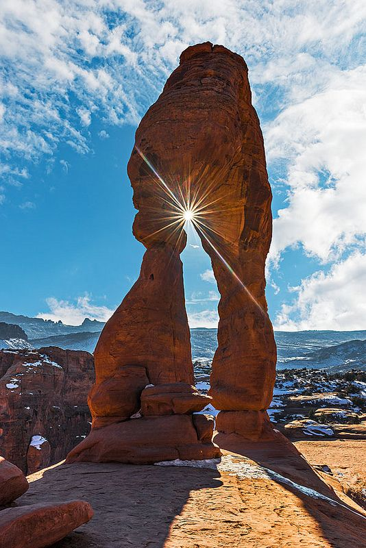 Sunstar and Delicate Arch - Arches National Park, Utah