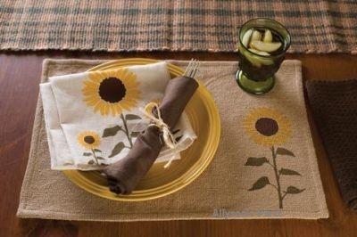 Sunflower Placemats,victorian heart,fall harvest,flowers